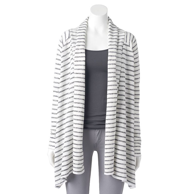 Women's Olivia Sky Striped Draped Cardigan
