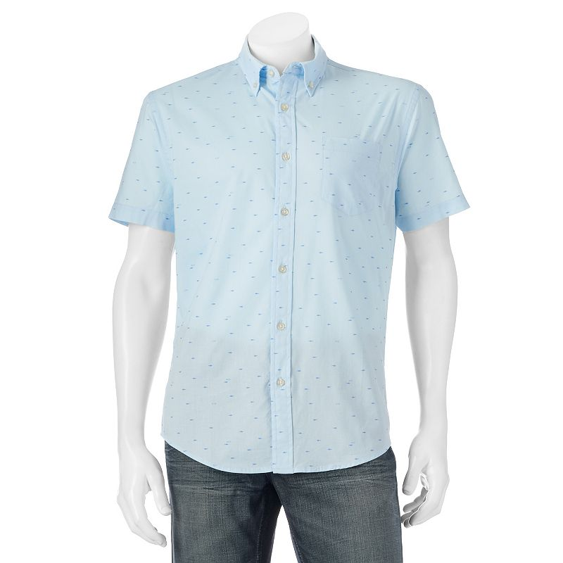 Men's SONOMA Goods for Life™ Classic-Fit Fish Poplin Button-Down Shirt