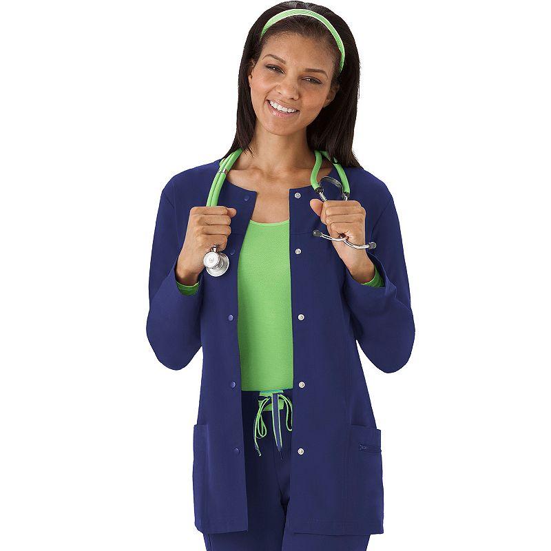 Plus Size Jockey Scrubs Modern Snap Front Jacket