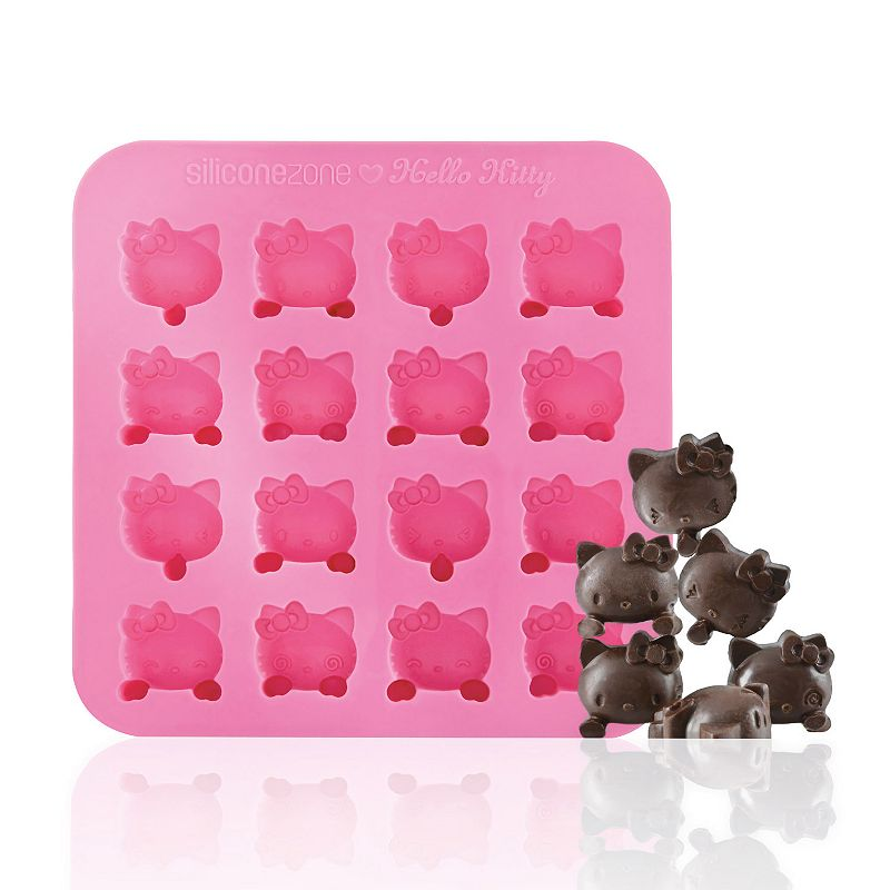Siliconezone Hello Kitty Nonstick Silicone Chocolate Mold, Pink