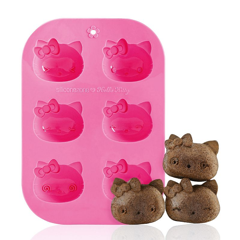 Siliconezone Hello Kitty® 6-Cup Nonstick Silicone Muffin Mold