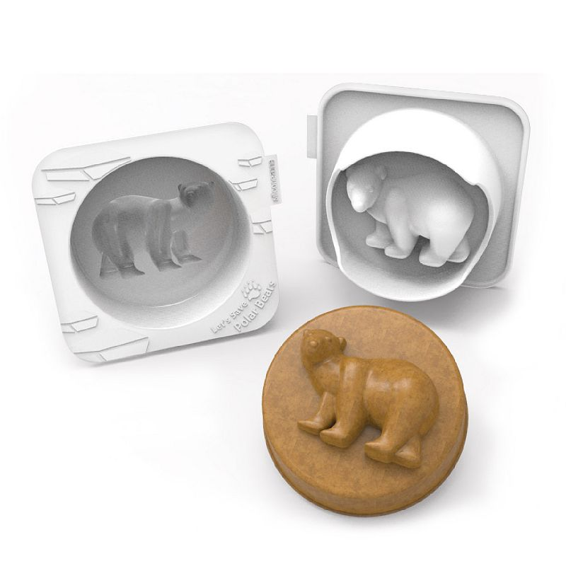 Siliconezone My Animals Polar Bear Nonstick Silicone Cake Pan