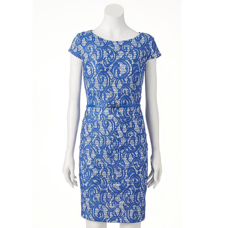 Women's AB Studio Spliced Lace Shift Dress
