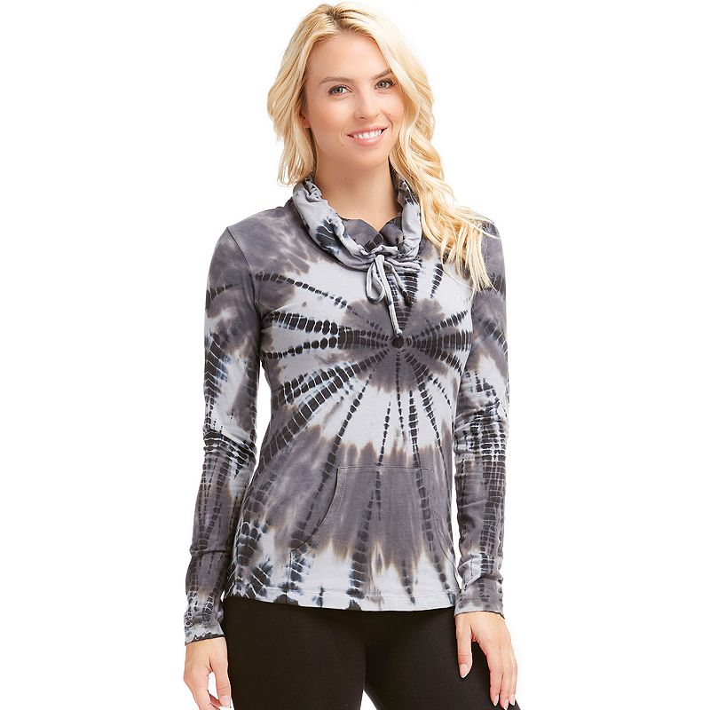 Women's Balance Collection Tie-Dye Cowlneck Hiking Top
