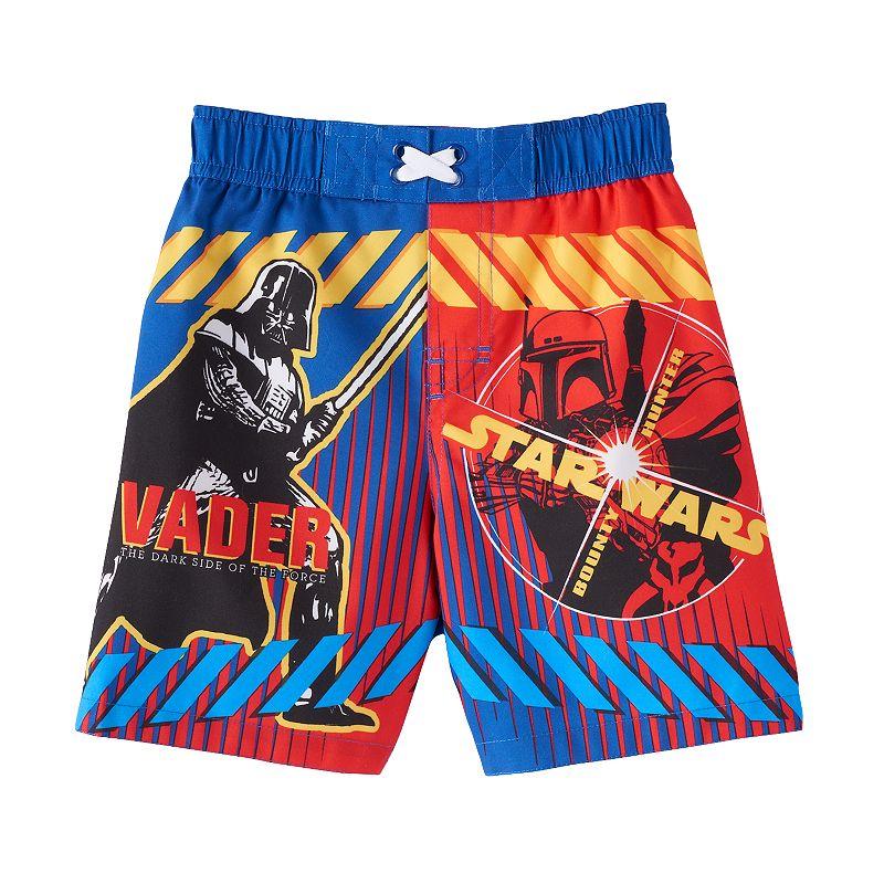 Toddler Boy Star Wars Darth Vader & Bobba Fett Swim Trunks