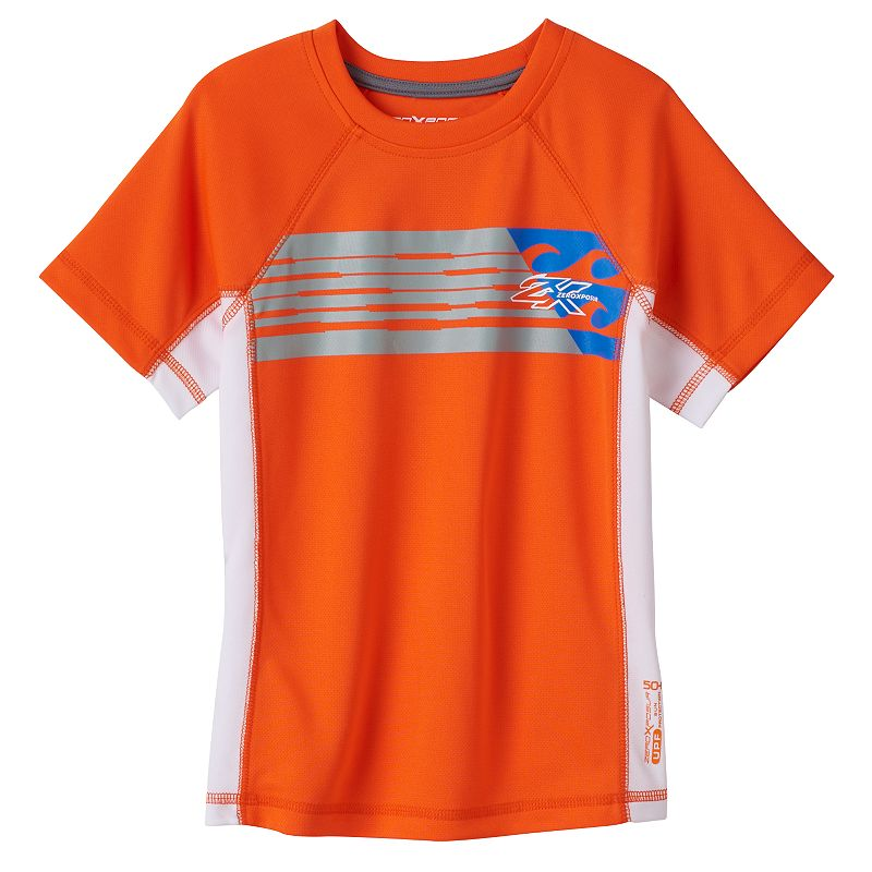 Boys 4-7 ZeroXposur Striped Wave Rashgaurd