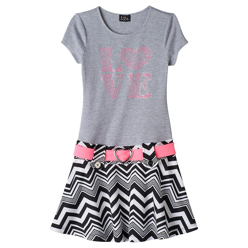 Girls 7-16 lilt ''Love'' Jeweled Dress