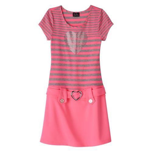 Girls 7-16 lilt Striped Marsha Dress