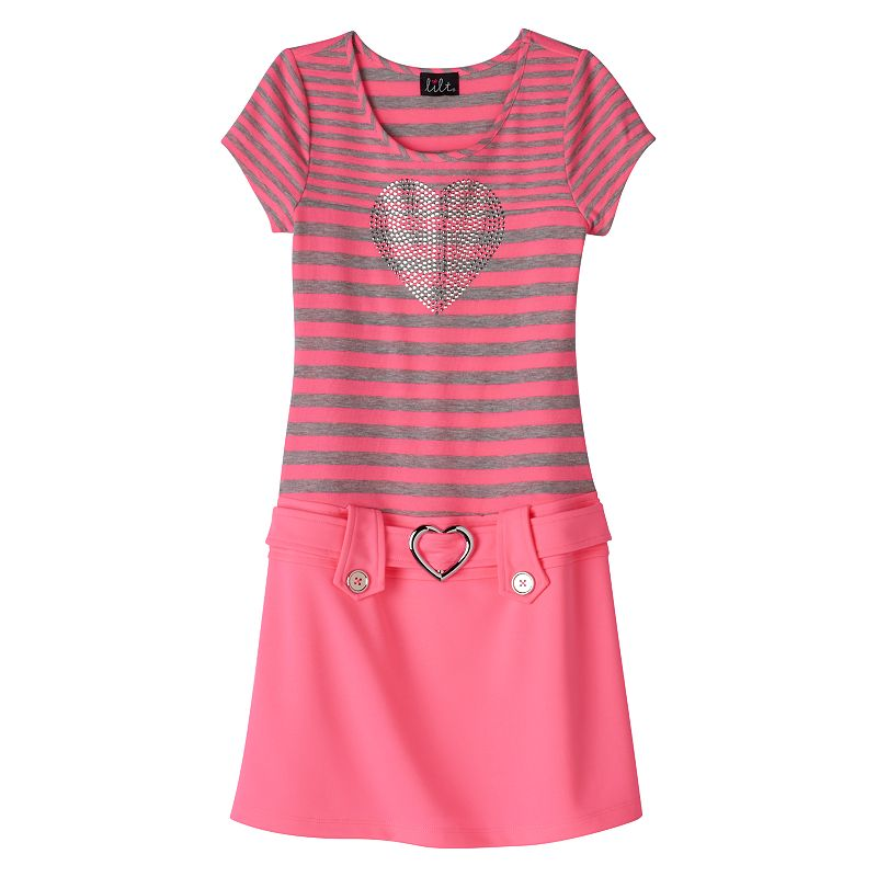 Girls 7-16 lilt Striped Marsha Dress