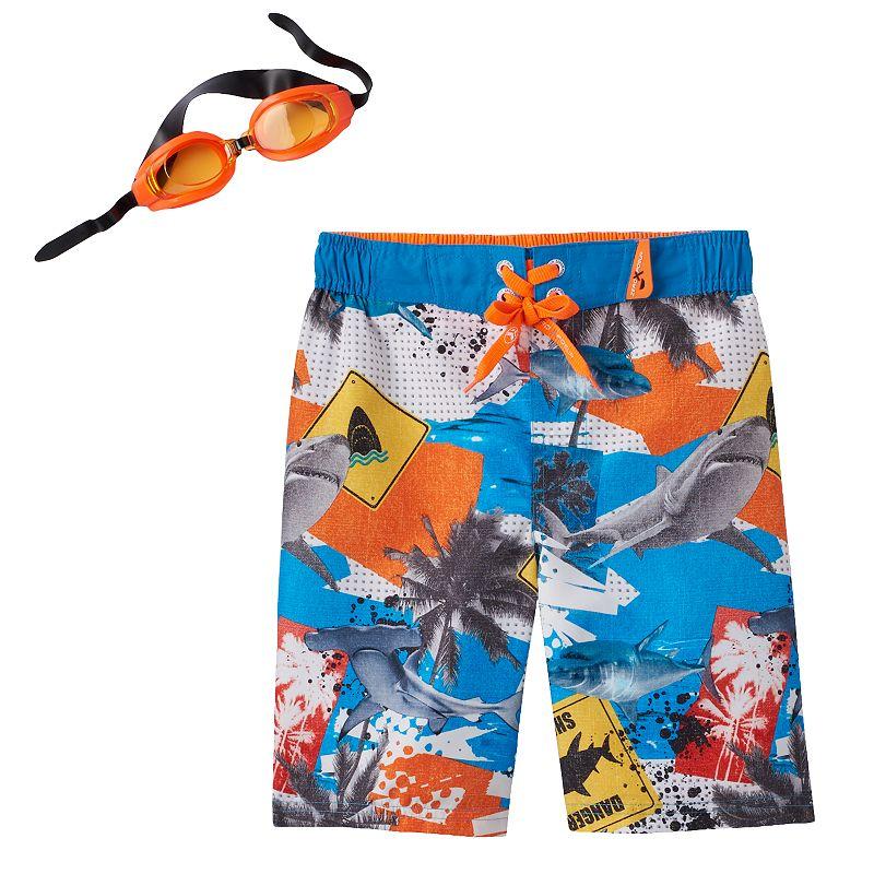 Boys 4-7 ZeroXposur Tropical Photoreal Swim Trunks
