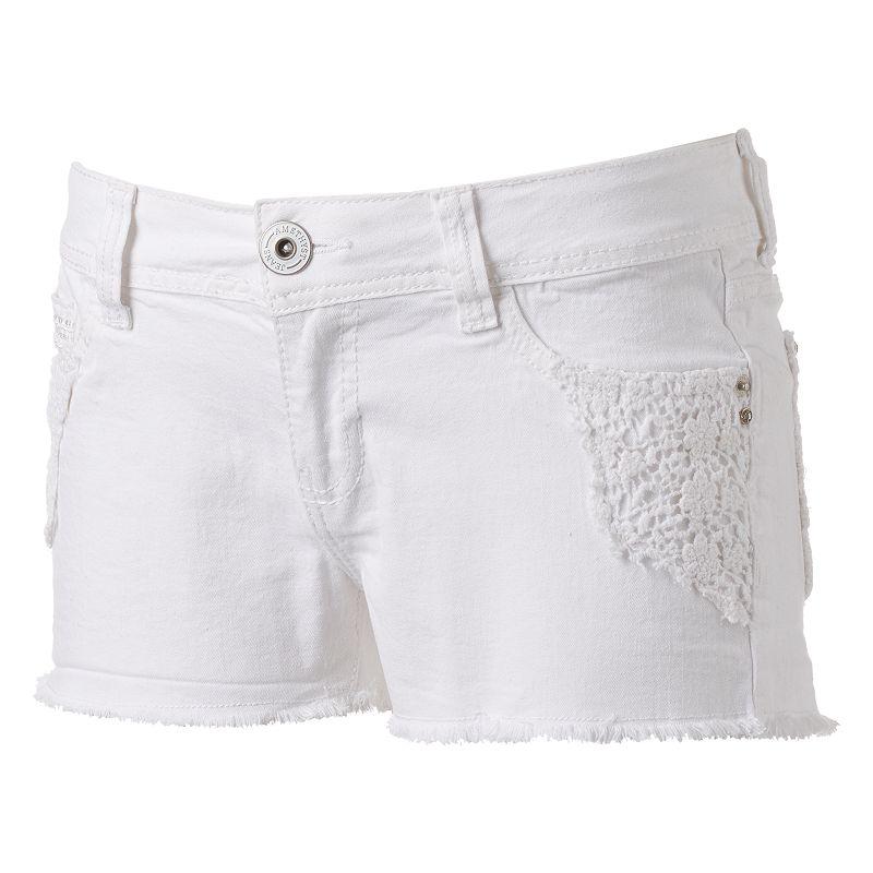Juniors' Amethyst Cutoff Shortie Shorts