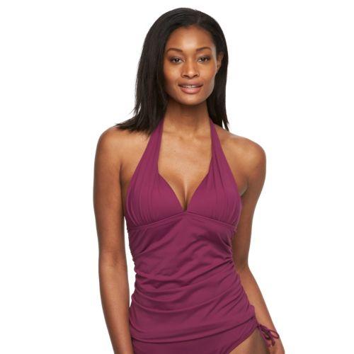 Women's Apt. 9® Ruched Halterkini Top
