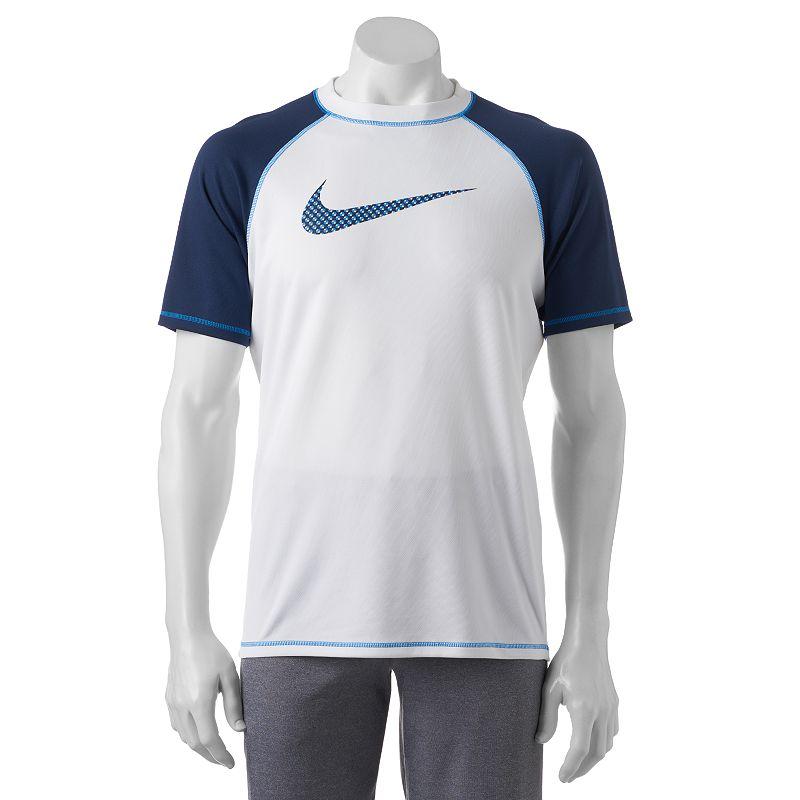 Men's Nike Hydro UV Fuse Colorblock Mesh Swoosh Dri-FIT Swim Tee