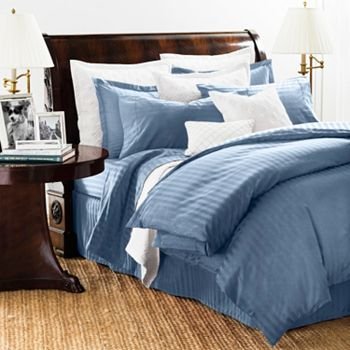 Chaps Damask Stripe Twin Size Comforter Set