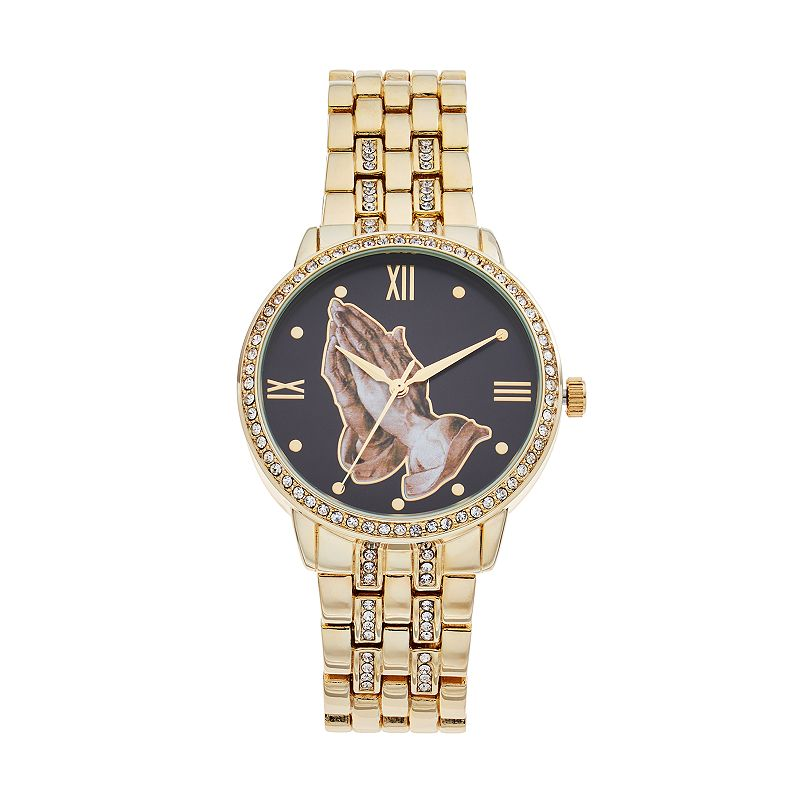Women's Praying Hands Crystal Watch