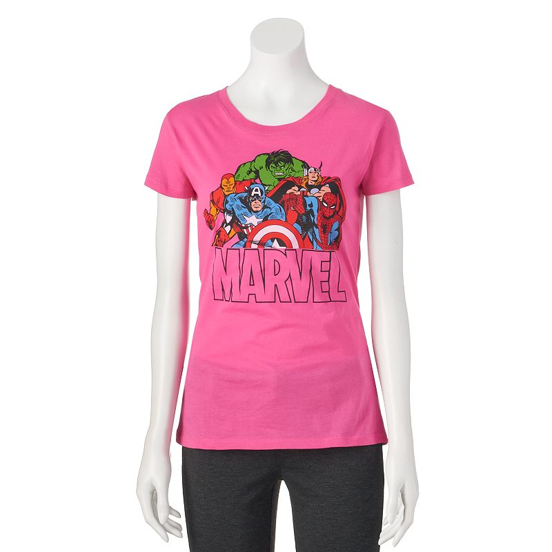 Juniors' Marvel Heroes Character T-Shirt