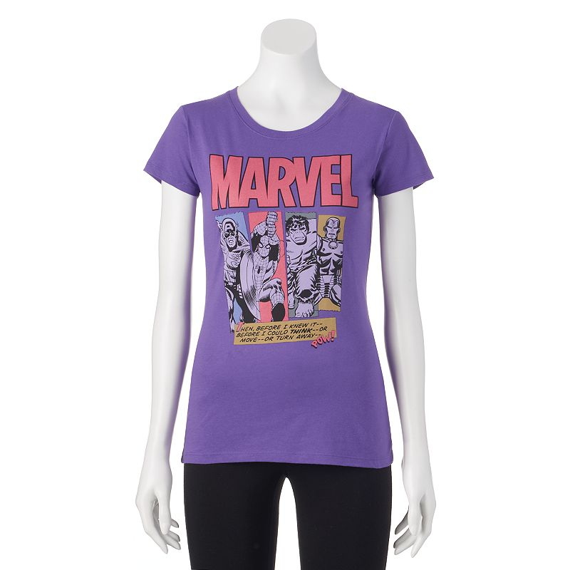 Juniors' Marvel Character T-Shirt