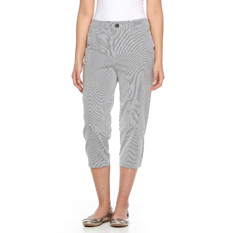 Women's Croft & Barrow® Essential Striped Twill Capris