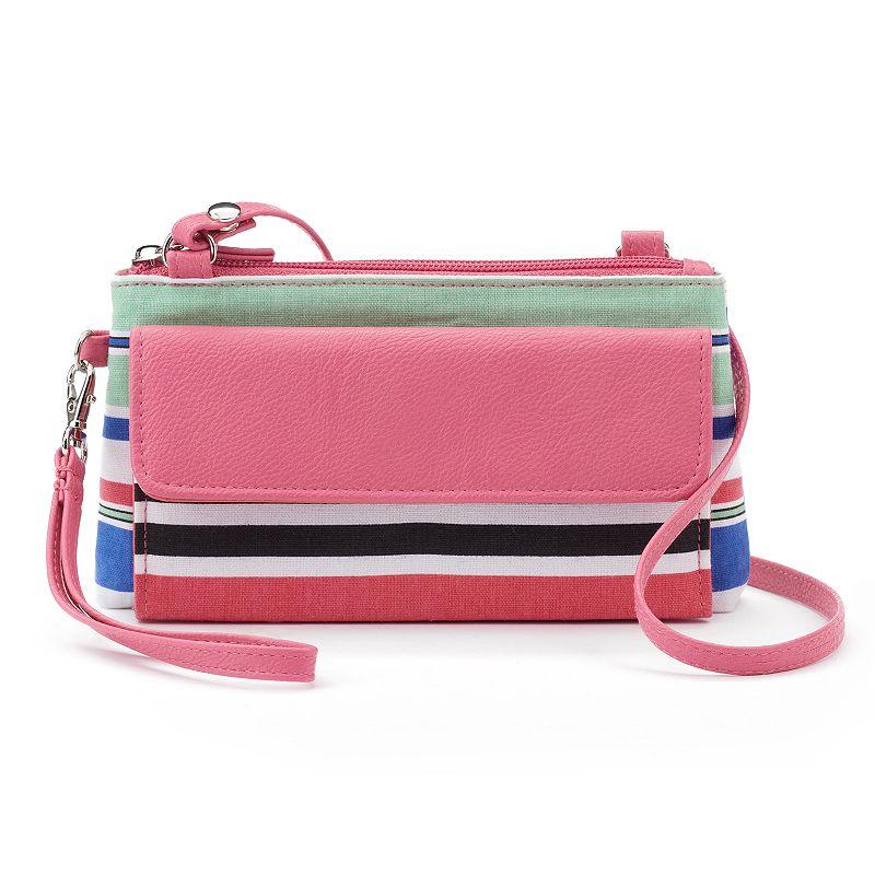 Croft & Barrow® Chelsea RFID-Blocking Striped Mini Crossbody Bag