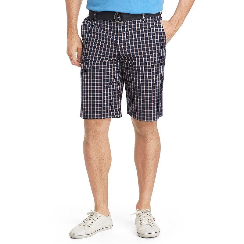 Men's IZOD Classic-Fit Plaid Poplin Shorts