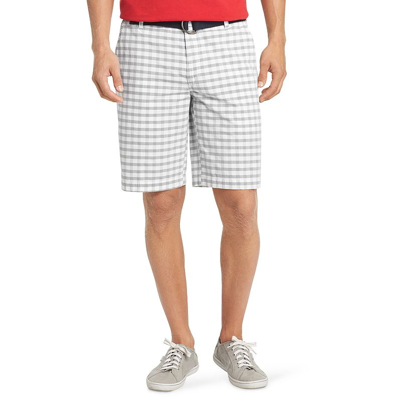 Men's IZOD Classic-Fit Plaid Poplin Shorts