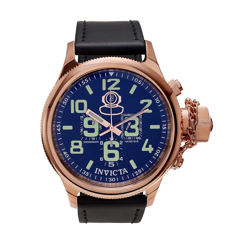 Invicta Men's Russian Diver Leather Chronograph Watch - KH-IN-7104