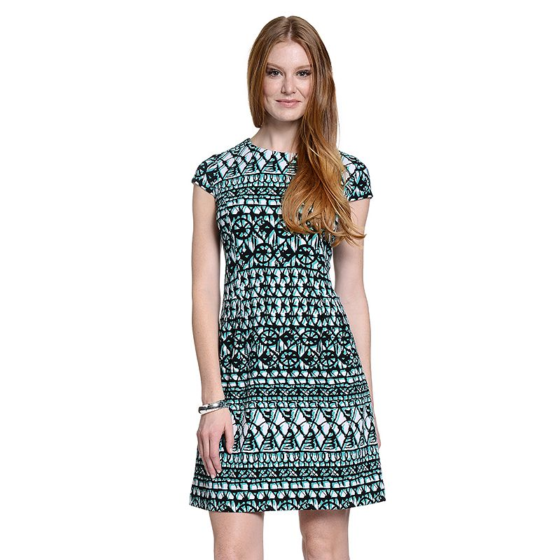 Women's Indication Print Fit & Flare Dress