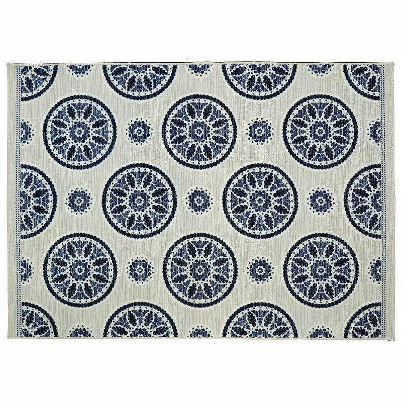 Mohawk home inspired india medallion rug dealtrend for Home inspired by india rug