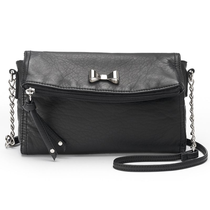 Candie's® Gina Washed Bow Mini Crossbody Bag