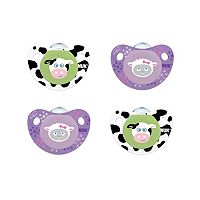 0-6 Months NUK 4-pk. Cute as a Button Farm Animals Orthodontic Pacifiers