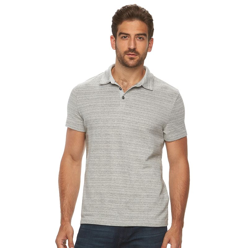 Men's Marc Anthony Slim-Fit Striped Honeycomb Pique Polo