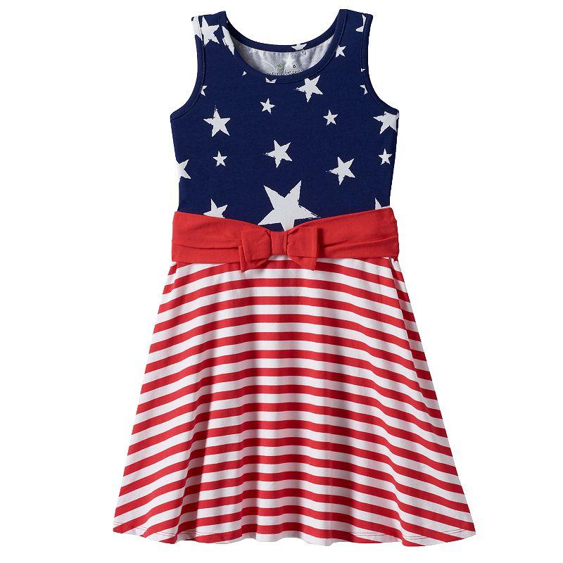 Toddler Girl Jumping Beans® Patriotic Stars & Stripes Skater Dress