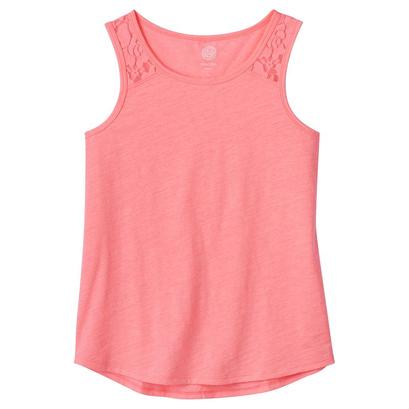 Girls 7-16 & Plus Size SO® Lace Cutest Tank Top