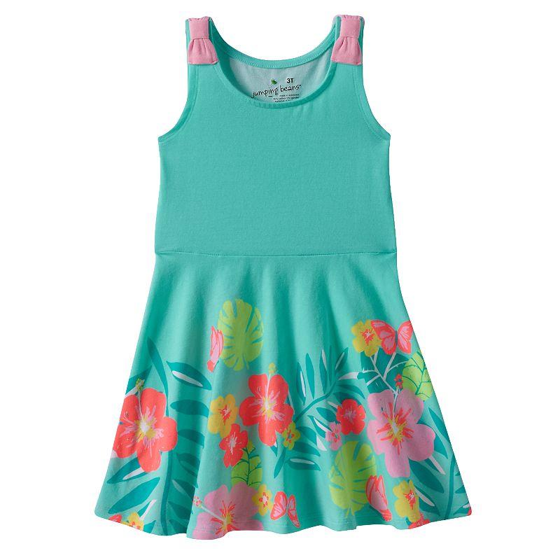 Toddler Girl Jumping Beans® Patterned Skater Tank Dress