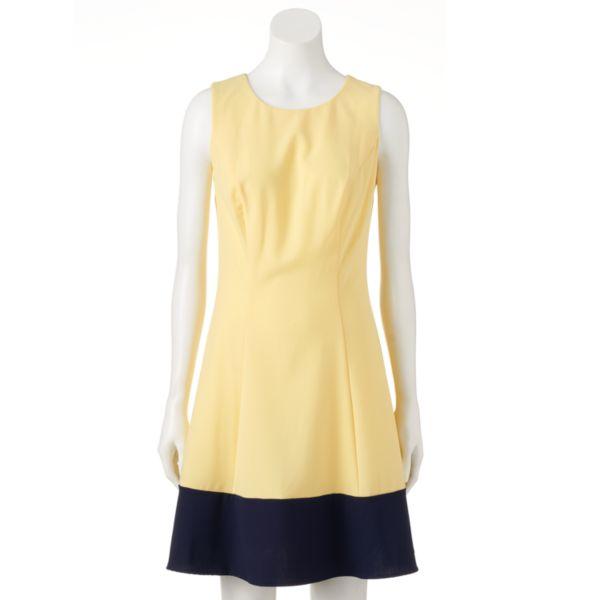Women's AB Studio Colorblock Fit & Flare Dress