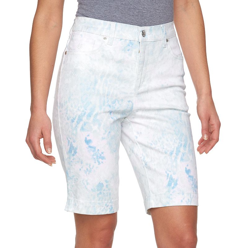 Petite Gloria Vanderbilt Amanda Embellished Bermuda Shorts