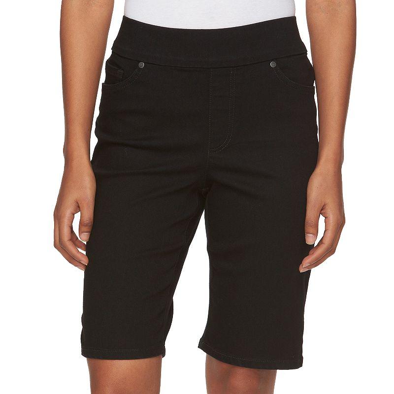 Petite Gloria Vanderbilt Avery Pull-On Bermuda Shorts