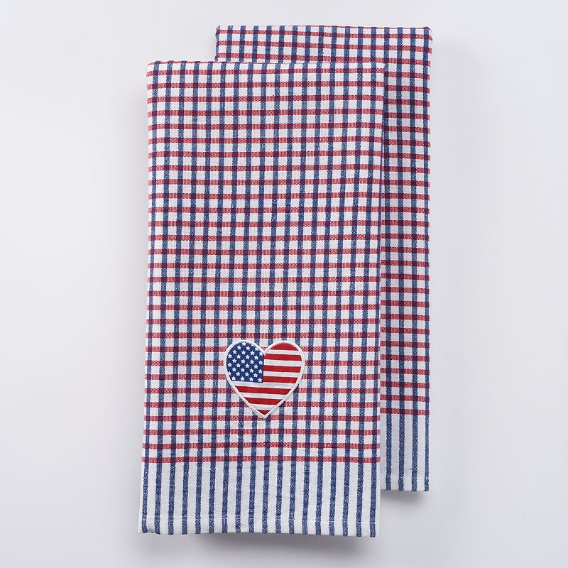 Celebrate Americana Together Heart Patch Kitchen Towels 2-pk.