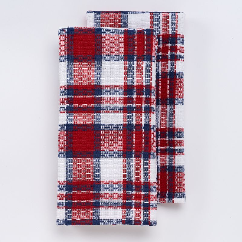Celebrate Americana Together Woven Plaid Kitchen Towels 2-pk.