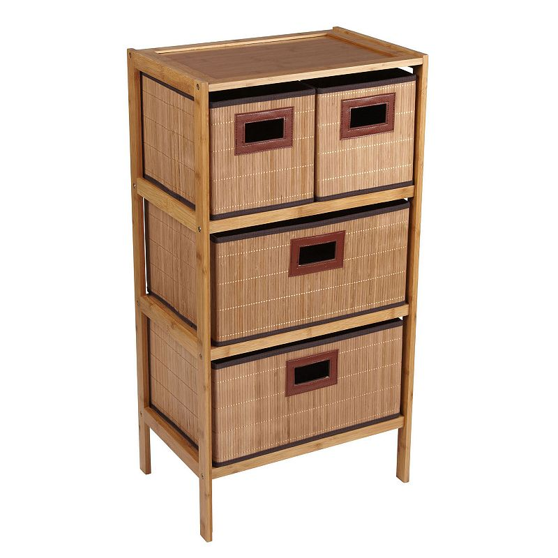 Household Essentials 4-Drawer Wide Chest