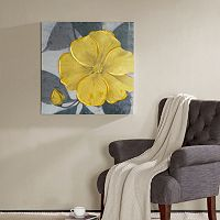 Madison Park Yellow Bloom Canvas Wall Art