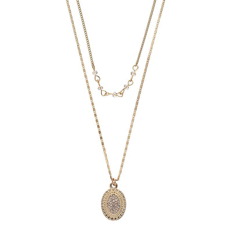 LC Lauren Conrad Multistrand Oval Pendant Necklace