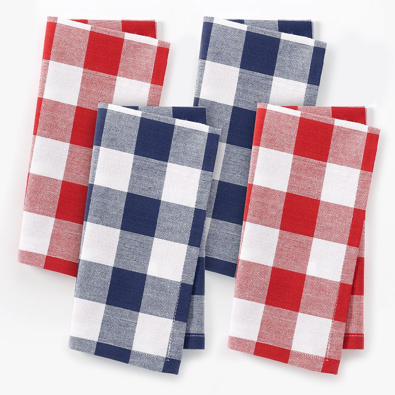 Celebrate Americana Together Red & White Plaid Napkins 4-pk.