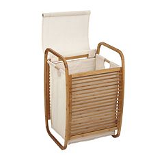 Household Essentials Bowed Lidded Laundry Hamper by
