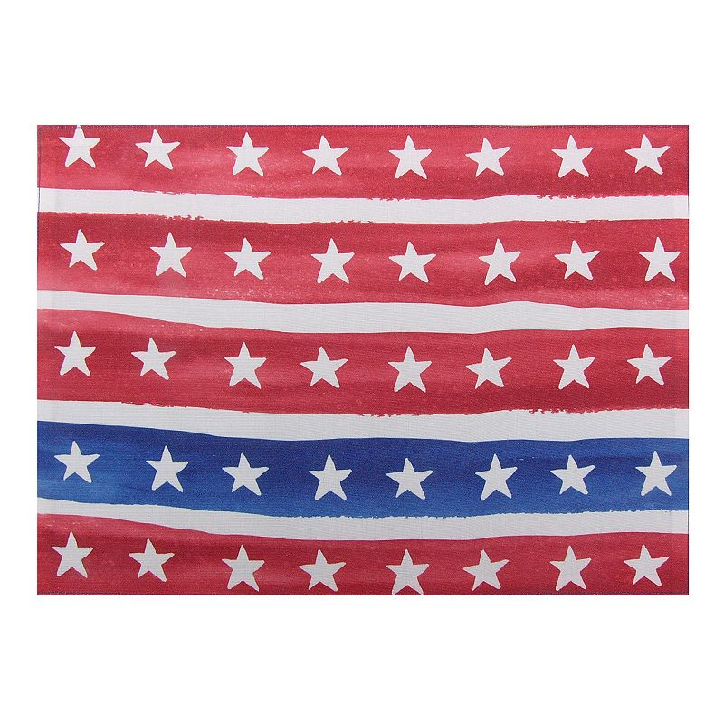 Celebrate Americana Together Watercolor Stars & Stripes Placemat