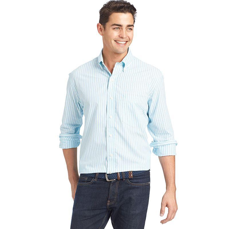 Men's IZOD Classic-Fit Striped Button-Down Shirt