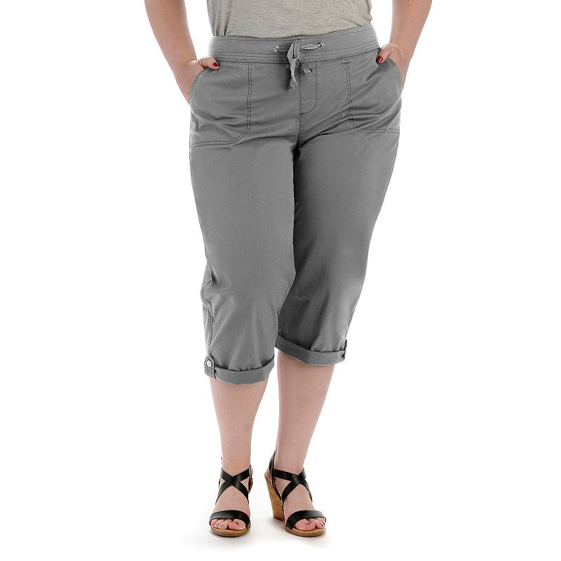 Plus Size Lee Quinn Relaxed Fit Cargo Twill Capris
