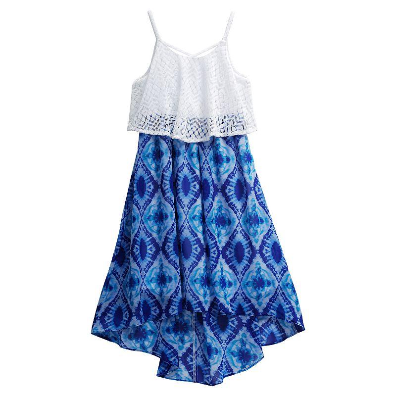 Girls 7-16 Emily West Crisscross Mock-Layer Dress