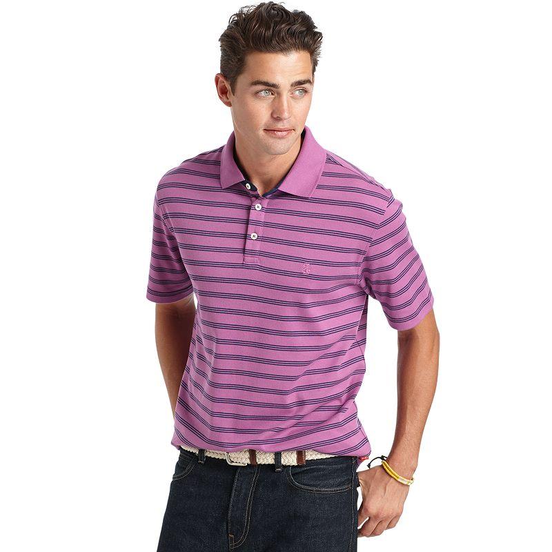 Men's IZOD Striped Interlock Polo