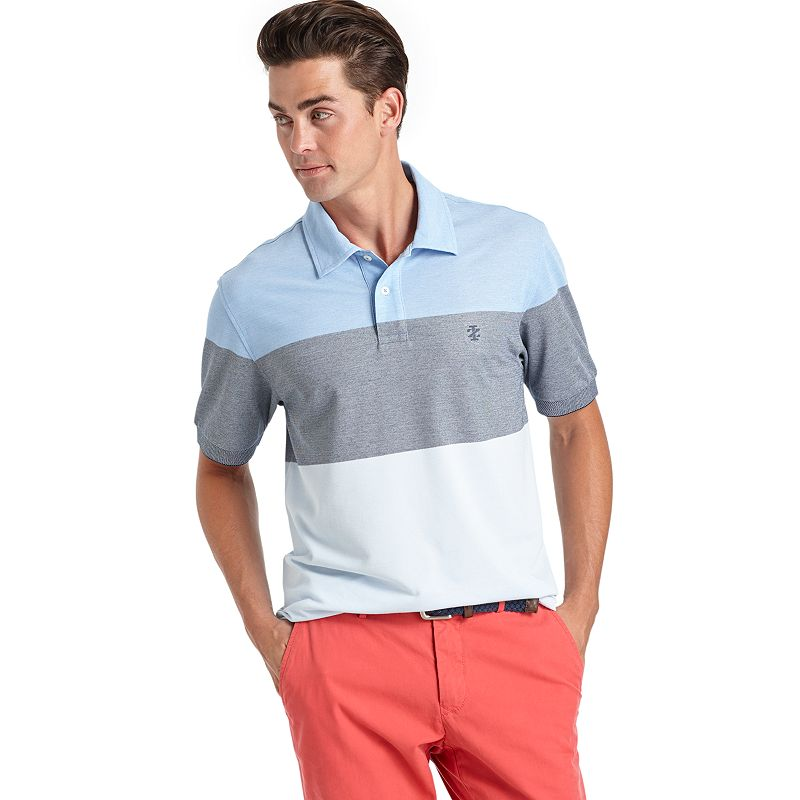 Men's IZOD Oxford Colorblock Striped Polo